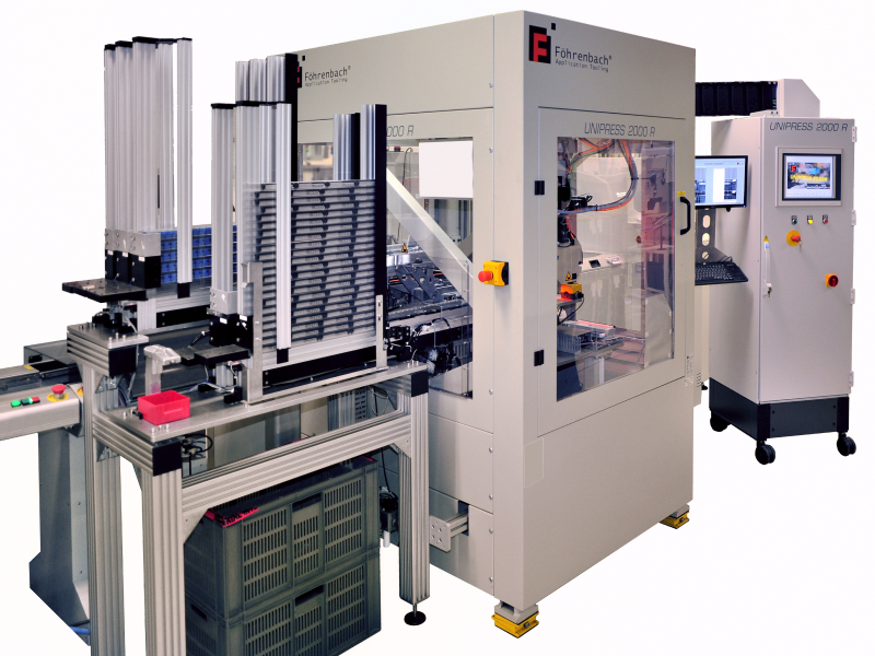 Unipress 2000 R full-automatic seating machine for automotive.