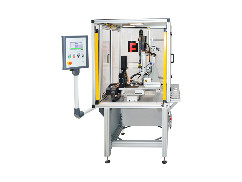 Single pin insertion machine for pcb and 3D objects.